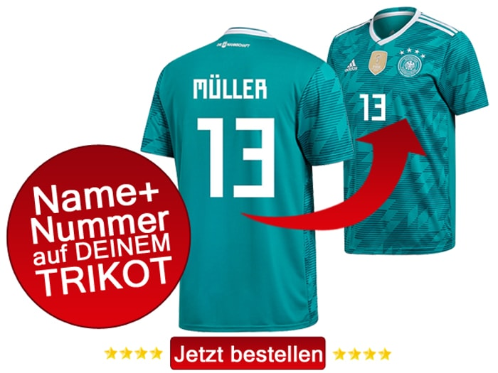 Das neue DFB Away Trikot mit Beflockung inkl. Spielername & Rückennummer kaufen!