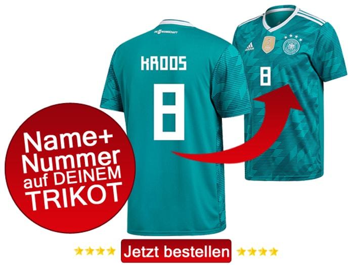 Jetzt das neue DFB Trikot 2018 Away mit vier Sternen kaufen!