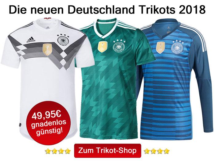 Die neuen Deutschland Trikots 2018 kaufen!